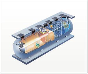 洗卵廃水処理ユニット